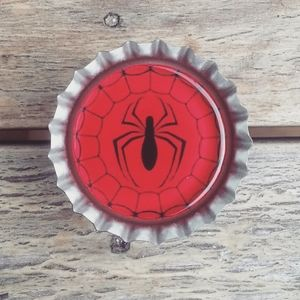 Spiderman bottlecap ring